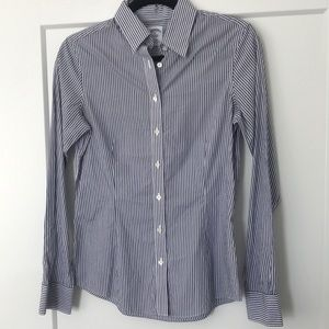 Brooks Brothers Striped Blue Button Down